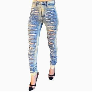 Aphrodite High Rise Distressed Skinny Jeans